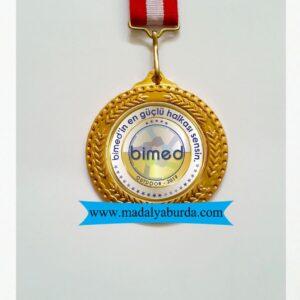 baskılı madalya örneği