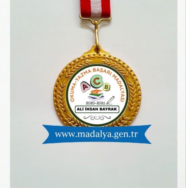 okuma-yazma başarı madalyası