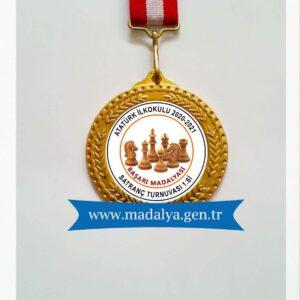satranç okulu madalyası,satranç madalyası